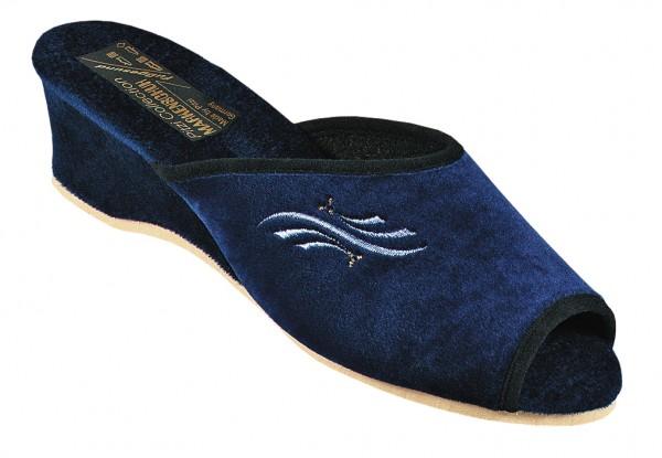 Damenpantolette Art. 51540 blau